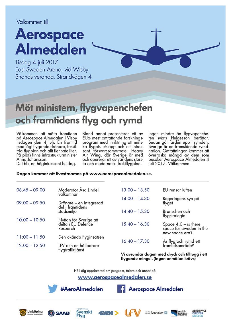 Aerospace Almedalen inbjudan 2017